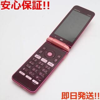 キョウセラ(京セラ)の良品中古 GRATINA KYF37 ピンク 本体 白ロム(携帯電話本体)