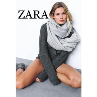 ザラ(ZARA)の16 ZARA ザラ 新品 ベーシックストール グレー(ストール/パシュミナ)