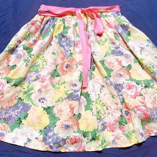 アドリー(ADREE)の花柄スカート(ひざ丈スカート)