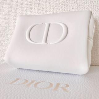 Dior - Dior ノベルティ ポーチ ホワイト