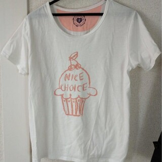 ラフ(rough)のアイスクリーム 半袖 Tシャツ 白(Tシャツ(半袖/袖なし))