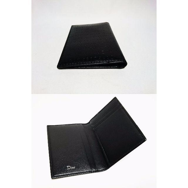 Dior(ディオール)の正規新古 希少 Dior Homme ロゴ文字レザーカードケース黒 名刺入れ メンズのファッション小物(名刺入れ/定期入れ)の商品写真