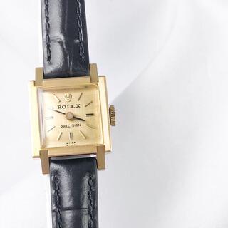 ROLEX - 【仕上済】ロレックス プレシジョン K18 YG スクエア レディース 腕時計
