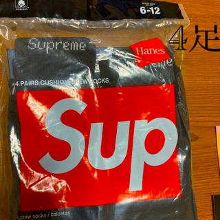 Supreme - シュプリーム ソックス 黒4足セット