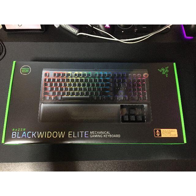 LAZER(レイザー)の新品 Razer Blackwidow Elite スマホ/家電/カメラのPC/タブレット(PC周辺機器)の商品写真