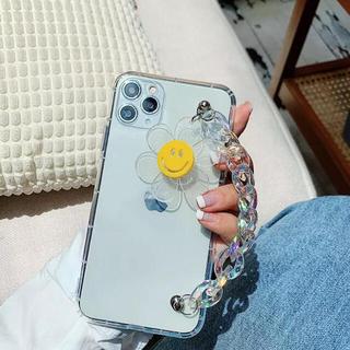 アイフォーン(iPhone)のiPhone11クリアケース ニコちゃんマークチェーン付(iPhoneケース)