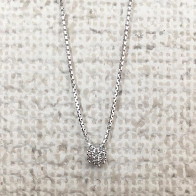 Damiani(ダミアーニ)のダミアーニ ダイヤモンド フラワー ネックレス K18WG 4.3g レディースのアクセサリー(ネックレス)の商品写真