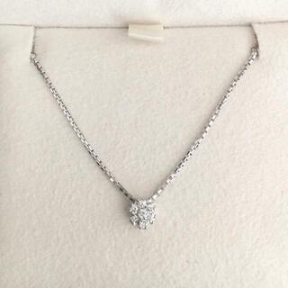 ダミアーニ ダイヤモンド フラワー ネックレス K18WG 4.3g