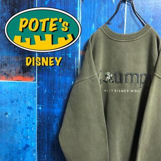 Disney - 【ディズニー】白雪姫7人の小人グランピーキャラ刺繍ビッグロゴスウェット 90s