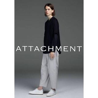 ATTACHIMENT - アタッチメント GVブロックスレギュラードライ2タックワイドパンツ