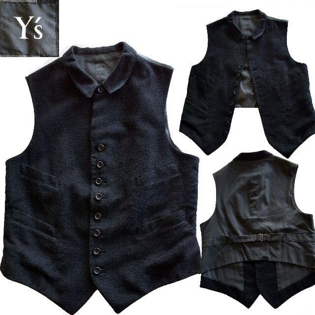 Yohji Yamamoto(ヨウジヤマモト)のYohji Yamamoto Y's  麻混ベストとスカート セットアップで♪♪ レディースのトップス(ベスト/ジレ)の商品写真