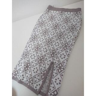 リゼクシー(RESEXXY)のresexxy nit skirt(ひざ丈スカート)