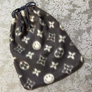 《ニコちゃん》レア  フリース 巾着袋(ポーチ)