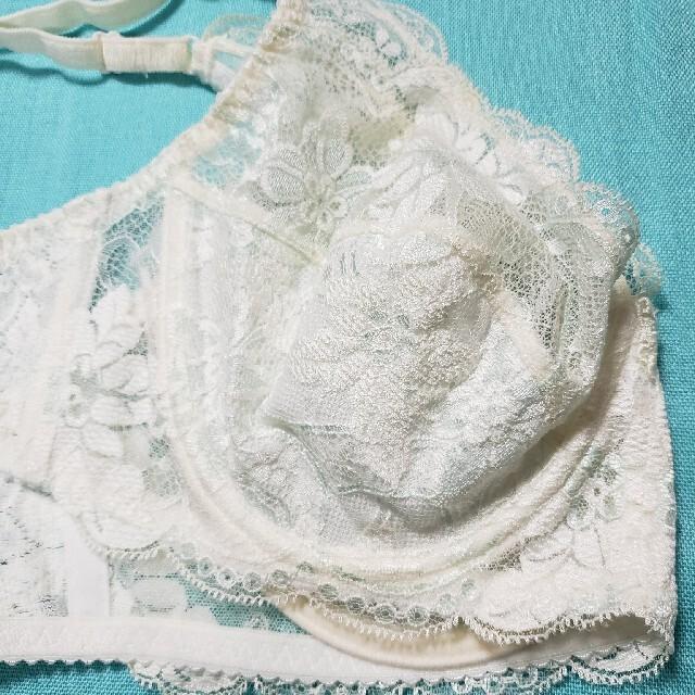 シャルレ(シャルレ)のシャルレブラジャーFA151-C75ホワイトブルー レディースの下着/アンダーウェア(ブラ)の商品写真
