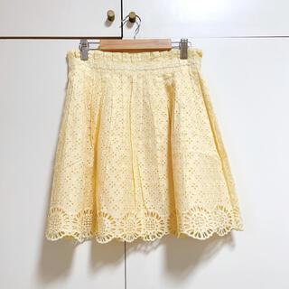 ドーリーガールバイアナスイ(DOLLY GIRL BY ANNA SUI)の花柄レーススカート フレアミニスカート(ミニスカート)