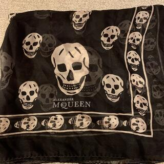 Alexander McQueen - アレクサンダーマックイーン ストール スカル 黒 ブラック