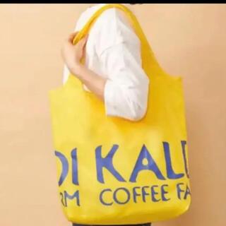 カルディ(KALDI)のKALDI エコバッグ 【未使用】イエロー カルディ(エコバッグ)