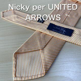 ニッキー(NICKY)のNicky per UNITED ARROWS  オレンジ ネクタイ(ネクタイ)