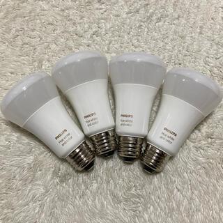 フィリップス(PHILIPS)のフィリップス  LED電球 HUE フルカラー 4個(蛍光灯/電球)