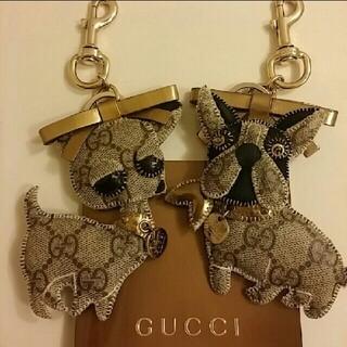 グッチ(Gucci)のグッチ フレンチブルドッグ チワワ キーホルダー 二点セット GUCCI  (キーホルダー)