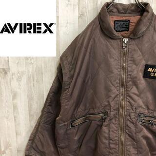 AVIREX - アヴィレックス MA-1タイプ フライトジャケット フルジップ キルティング