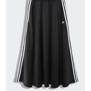 アディダス(adidas)のアディダス マストハブスカート ブラック used Lサイズ 送料込(ロングスカート)