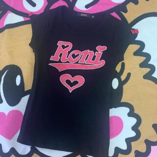 ロニィ(RONI)のRONI♡Tシャツ  黒(Tシャツ/カットソー)