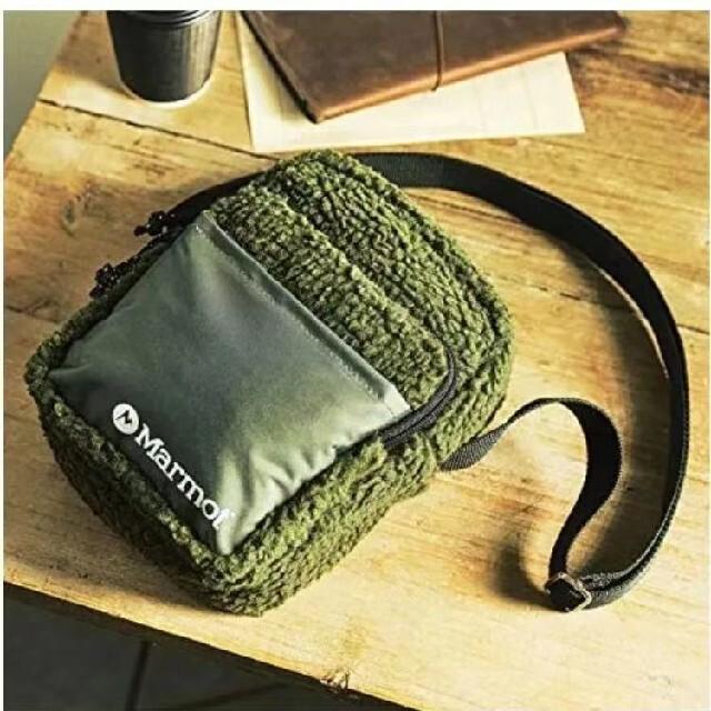 MARMOT(マーモット)の送料込み MonoMax 12月号付録 マーモットフリースショルダーバッグ メンズのバッグ(ショルダーバッグ)の商品写真