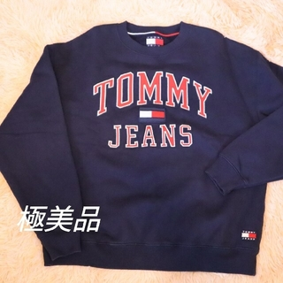 TOMMY HILFIGER - 【極美品】TOMMY JEANS トミー 刺繍スウェット大ロゴ