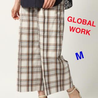 GLOBAL WORK - GLOBAL WORK チェック ワイドパンツ Mサイズ