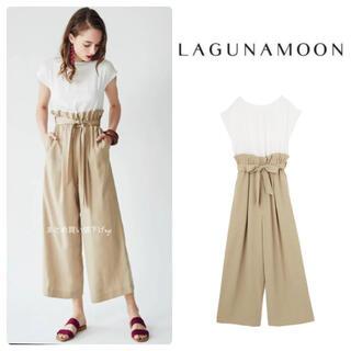 LagunaMoon - ラグナムーン♡ハイウエストワイドパンツ オールインワン