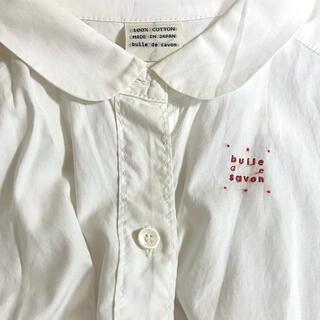 ビュルデサボン(bulle de savon)のロゴ刺繍入り白シャツ(シャツ/ブラウス(長袖/七分))