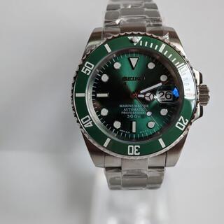 セイコー(SEIKO)のセイコーサブマリーナ オマージュ品 カスタムnh35搭載(腕時計(アナログ))