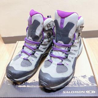 サロモン(SALOMON)の【JO様専用】トレッキングシューズ 登山靴 23.5cm ゴアテックス(登山用品)