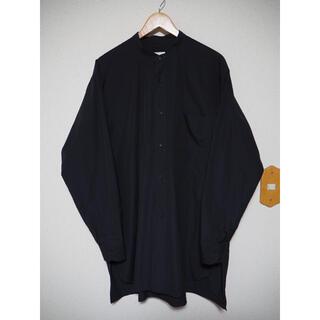 コモリ(COMOLI)の21ss COMOLI バンドカラーシャツ ネイビー サイズ3 コモリシャツ(シャツ)