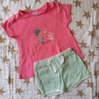 プチバトー(PETIT BATEAU)のプチバト- Tシャツ&ショートパンツ2枚セット(その他)