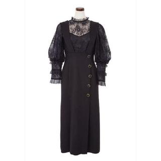 フレイアイディー(FRAY I.D)のHerlipto Lace Trimmed Bella Midi Dress(ロングワンピース/マキシワンピース)