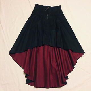 アトリエボズ(ATELIER BOZ)のBLACK PEACE NOW フィッシュテールスカート sheglit(ロングスカート)