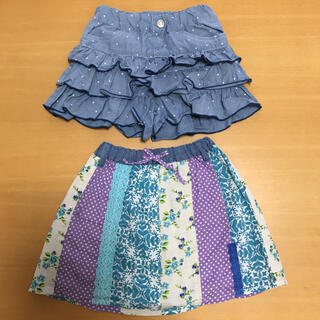 RAG MART - ブルー系 キュロット スカート