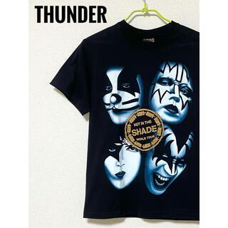 THUNDER plus kiss バンド Tシャツ M(Tシャツ/カットソー(半袖/袖なし))