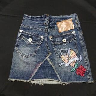 デニム刺繍スカート
