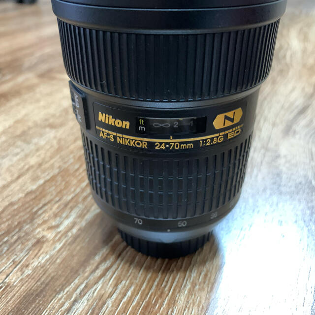 Nikon(ニコン)のNikon AF-S 24-70F2.8G ED プロテクター付 スマホ/家電/カメラのカメラ(レンズ(ズーム))の商品写真