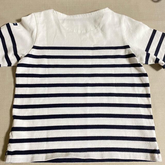 HELLY HANSEN(ヘリーハンセン)のボーダー Tシャツ 110cm ヘリーハンセンキッズ半袖シャツ キッズ/ベビー/マタニティのキッズ服男の子用(90cm~)(Tシャツ/カットソー)の商品写真