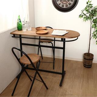 [新品] カウンターテーブル×1・チェア×2 3点セット(バーテーブル/カウンターテーブル)