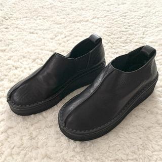 ヨウジヤマモト(Yohji Yamamoto)のpour deux プルドゥ 厚底 シューズ ブーツ 23.5cm(ブーツ)