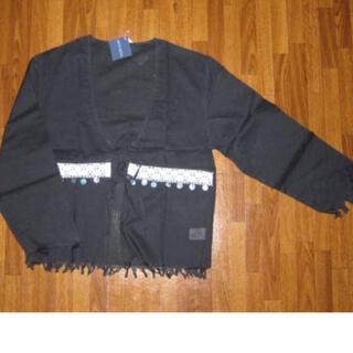 アンティックバティック(Antik batik)のANTIK BATIK ANNA シャツカーディガン S ブラック(シャツ/ブラウス(長袖/七分))