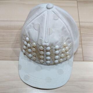 アナスイミニ(ANNA SUI mini)のアナスイミニ キャップ(ホワイト)(帽子)
