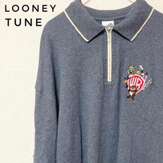 LOONEY TUNE キャラクター刺繍 半袖ポロシャツ S(ポロシャツ)