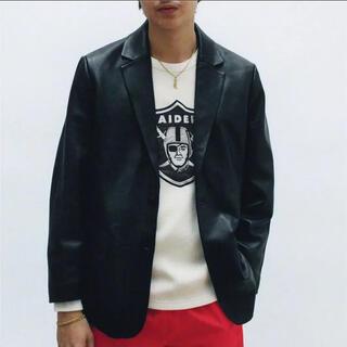 Supreme - SUPREME LEATHER blazer jacket