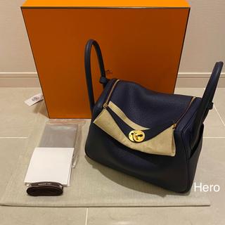 エルメス(Hermes)の新品・2021年Z刻印 エルメス リンディ 26 ブルーニュイ ゴールド金具(ハンドバッグ)